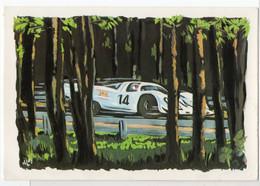 Autos Voitures Automobiles Cars - LE MANS Circuit Automobile Des 24 HEURES Ligne Droite Des Records - Cachet Poste 1970 - Turismo