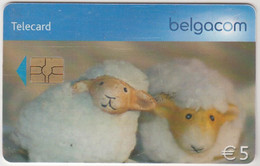 BELGIUM - Sheep, 5 €, Tirage 67.500, Used - With Chip