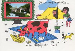 BIERT....on Est Vachement Bien Au Camping   A....... - Autres Communes