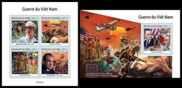 GUINEA 2021 - Vietnam War, Planes. M/S + S/S. Official Issue [GU210257] - Airplanes