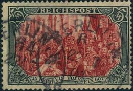 1900: 5 Mark Reichspost, Michelnummer 66 II (500,-), Geprüft - Usados