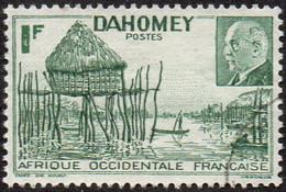 Détail De La Série Maréchal Pétain Obl. Dahomey N° 149, Village Lacustre - 1941 Série Maréchal Pétain