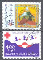 Greenland Sc# B17-B18 Used 1993 Boy Scouts In Greenland, 50th Anniv. - Usados
