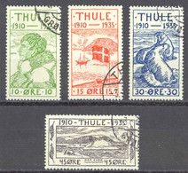 Greenland Thule Sc# 1-5 (no 25o) Used 1936 Definitives - Thule