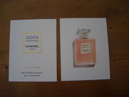 Carte Chanel Coco Mademoiselle Eau Pour La Nuit - Modern (from 1961)