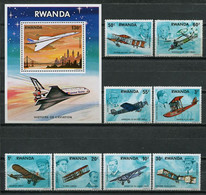 Rwanda 1978 / Aviation Airplanes MNH Aviación Luftfahrt / Cu8320  1-52 - Airplanes