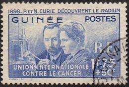 Pierre Et Marie Curie Détail De La Série Obl. Guinée N° 147 - Recherche Sur Le Cancer - 1938 Pierre Et Marie Curie