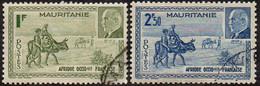 Détail De La Série Maréchal Pétain Obl. Mauritanie N° 123 Et 124 - 1941 Série Maréchal Pétain