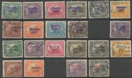 "Nicaragua Palacio Managua Y Catedral Leon ""Resello 1927"" Overprint Blue, Black And Red - Nicaragua"