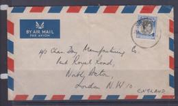 Singapore 1950 Airmail Cover To London - Singapur (1959-...)