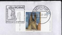 Germany 2003 / Hagendenkmal WORMS, Nibelungenstadt Am Rhein, Monument / Machine Stamp - ATM - Affrancature Meccaniche Rosse (EMA)