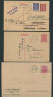 DT.REICH 1919/26, LOT AUS 5 GS MIT KIELER MAS-STPL G1g AUS 5 VERSCH. JAHREN - Stamped Stationery