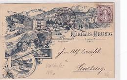 Kurhaus Brünig - Vorläufer-Litho - 1890 !!!           (P-328-10114) - BE Berne