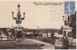 PENICHE     BRIARE    LE ¨PONT CANAL   OUVERT A LA CIRCULATION LE 16 SEPTEMBRE - Houseboats