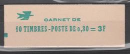 FRANCE CARNET FERME DE 10 TIMBRES CHEFFER 0,30 LILAS - 1536 C2 - NUMEROTE - Freimarke