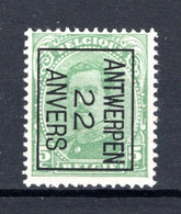 PRE59B-IV MNH** 1922 - ANTWERPEN 22 ANVERS - Tipo 1922-26 (Alberto I)
