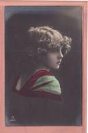 OLD PHOTO POSTCARD - CHILDREN - GIRL - GRETE REINWALD -   1917  - CURLY HAIR - Portraits