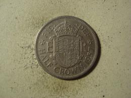 MONNAIE GRANDE BRETAGNE 1/2 CROWN 1957 - K. 1/2 Crown