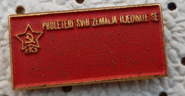 Communist Party Of Yugoslavia SKJ Communism Hammer Sickle Flag Yugoslavia Pin - Associazioni