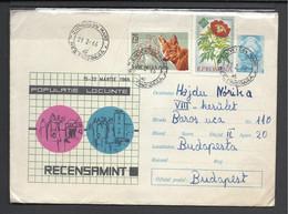 "Romania,  St. Cover, ""Recensamint""-Census, 1966. - Entiers Postaux"