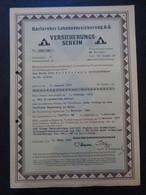 ALLEMAGNE - KARLSRUHE 1944 - KARLSRUHER LEBENSVERSICHERUNG A-G - DETAIL VOIR SCAN - Sin Clasificación