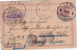 SOUDAN 1907    ENTIER POSTAL/GANZSACHE/POSTAL CARTE CACHET ARMY TELEGRAPHS - Soedan (...-1951)