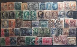 USA ETATS UNIS,  Lot De 57 Timbres Anciens Dont Taxe, Airmail , FORTE COTE - Sammlungen
