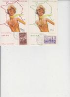 TOUR DE FRANCE CYCLISTE 1956  -  Illustré Par J.G. DOMERGUE  -  LOT DE 12 CARTES  - - 5 - 99 Postcards
