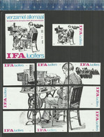 KANTOORKLERK COMMIS DE BUREAU ANCIEN EMPLOI OLD JOB OFFICE CLERK TYPEWRITER OLD DICTAPHONE  IFA Dutch Matchbox Labels - Matchbox Labels
