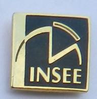 GP310 Pin's INSEE Logo Gros Modèle 16 Mm  X 16 Mm Qualité Egf Achat Immédiat - Amministrazioni