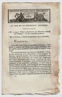 Bulletin Des Lois N°262 Ventôse An VII (1799) Proclamation Du Directoire Exécutif Aux Français... Assemblées Primaires - Decretos & Leyes
