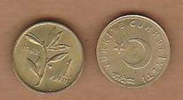 AC - TURKEY 1 KURUS 1962 BRASS UNCIRCULATED - Turquie