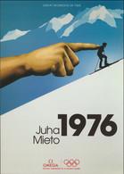 Mint Modern A5 Sized Postcard From Omega: Olympic Games In 1976 Innsbruck, Juha Mieto (LAR10-58A) - Giochi Olimpici