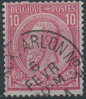 NB - [24600]TB//O/Used-N° 46, Belle Obl 'Ambt Brux.-Arlon N°3', Nipa +9? - 1884-1891 Leopold II.