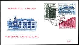 Belgium FDC 1975 Mi 1821-1823 European Monuments Year - 1971-80