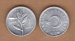 AC - TURKEY 1 KURUS 1975 ALUMINUM COIN UNCIRCULATED - Turquie