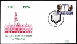 Belgium FDC 1975 Mi 1826 Prof G.Ryckmans And L. Cerfaux - 1971-80