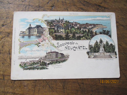 Carte  Litho Souvenir Neuchatel - NE Neuchâtel