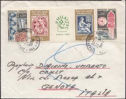 France - Philatelic Exhibition. Paris (II) 1964. MiNr. 1467-1470. Strasburg - Genova, Italy. - Covers & Documents