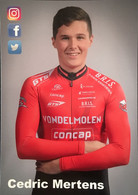 Postcard Cedric Mertens - Vondelmolen-concap - 2017/2018 - Ciclismo