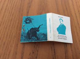 """Pochette D'allumettes Série 150e ANNIVERSAIRE DE LA NAISSANCE DE JULES VERNE """"Cinq Semaines En Ballon"""" V Bleu, éléphant - Zündholzschachteln"""