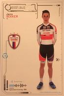 Postcard Jens Dekker - Beobank-Corendon - 2016/2017 - Ciclismo