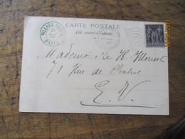 Paris Exposition Universelle Mai 1900 Flamme Drapeau Cachet Prive Village Suisse - 1877-1920: Semi Modern Period