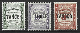 Timbre Colonie Francaises Maroc Taxe Neuf * N 42/45 Manque Le N 44 - Postage Due
