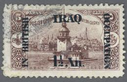 IRAK 1921 British Occupation Yt IQ 47 Leanders's Tower, Kiz Kulesi, Istanbul Bosphorus, Turkey / Used-Hinged - Irak