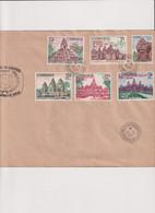 CAMBODGE-FDC TP N° 187/192-28/4/1967-CACHET ANNEE INTERNATIONALE DU TOURISME - Cambodja