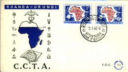 RUANDA-URUNDI 1960 C.C.T.A. First Day Cover SG 222 A & B - 1948-61: Briefe U. Dokumente