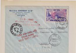 VIET-NAM-enveloppe Pour La France-CANNES  7/9/1965-EXPEDITEUR : STE CHOISAT & CIE-SAIGON - Vietnam