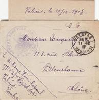VAUCLUSE LAC 1917 VALREAS HOPITAL BENEVOLE N°129 BIS - 1877-1920: Semi Modern Period