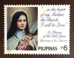 Philippines 1997 Death Of St Theresa MNH - Filippijnen